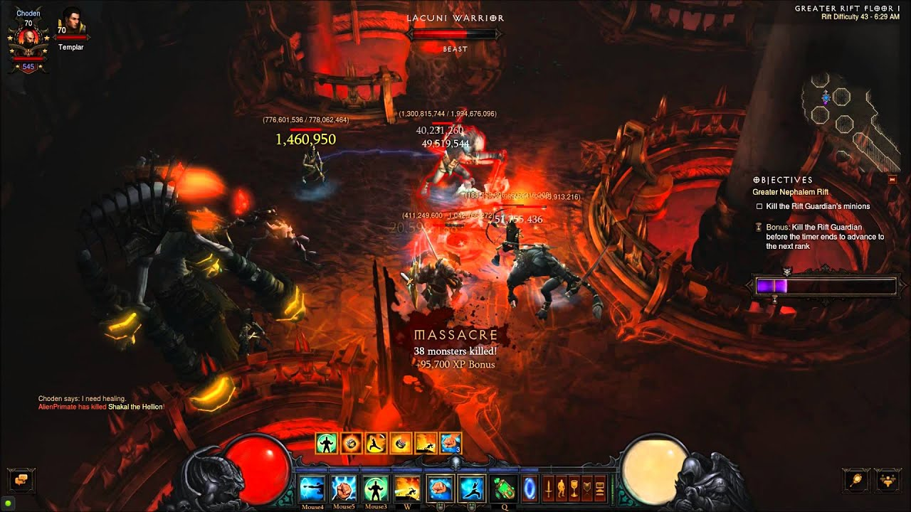 Download Diablo 3 GR 43 Combination Strike Fire Monk