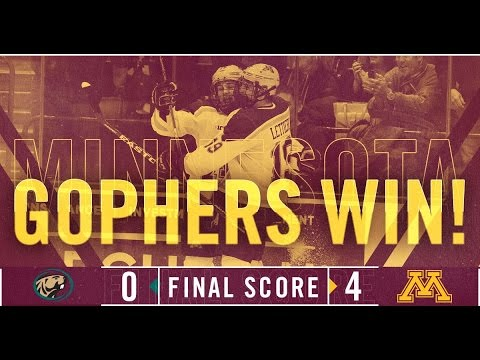 Highlights: Gopher Hockey Blanks Bemidji State 4-0 at North Star College Cup