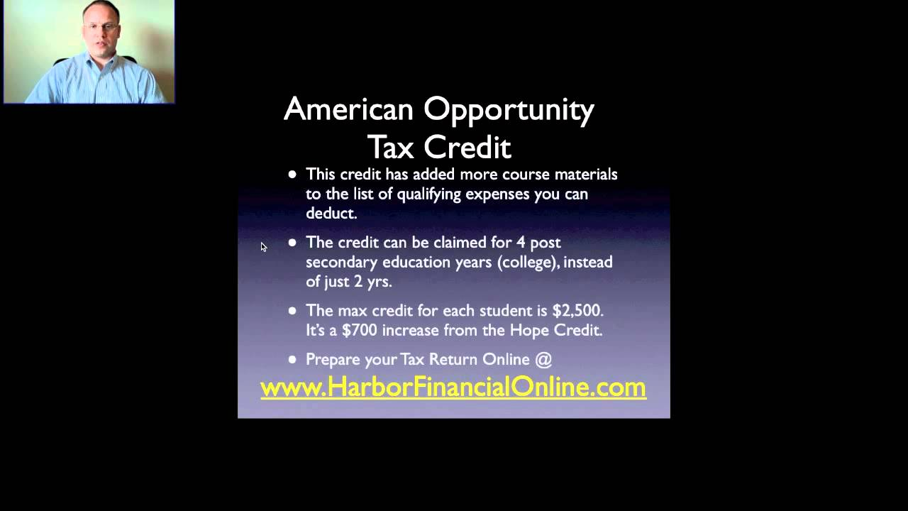 American Opportunity Tax Credit 2012, 2013 - YouTube