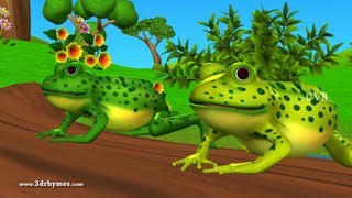 Five little Speckled Frogs - 3D Animation English Nursery rhyme for chlidren