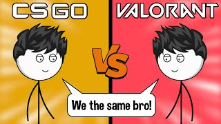 CSGO Gamers vs Valorant Gamers