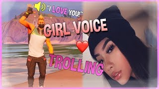 GIRL VOICE TROLLING IN FORTNITE