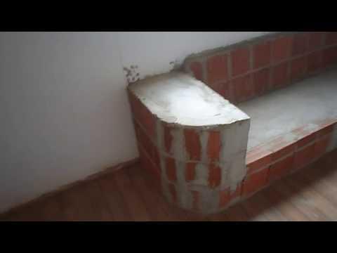 Sofa de Alvenaria 2 Vídeo Falado  Móveis de Tudo Um Pouco