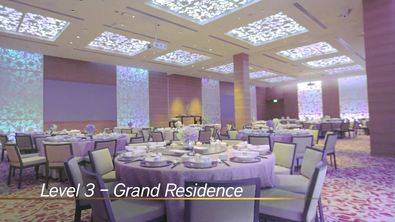 three levels of event venues at grand hyatt singapore
