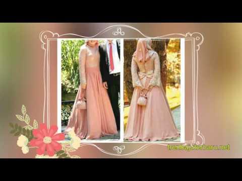 35 Contoh Model baju pesta muslim dewasa 2016