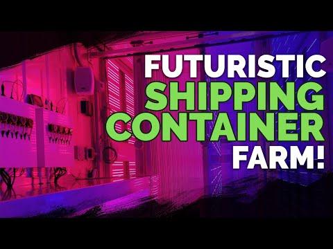 Futuristic Shipping Container Farm!