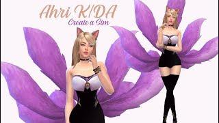 CREATE A SIM - K/دا AHRI - لول - THE SIMS 4 ✨