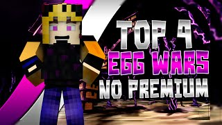TOP 4 SERVIDORES EGG WARS | MINECRAFT 1.8 | NO PREMIUM