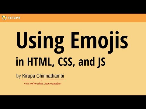 Emojis In HTML, CSS, And JS