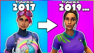 "How the ""TRYHARD"" SKIN Was created in Fortnite... (Tryhard Skin History 2017 - 2019)"