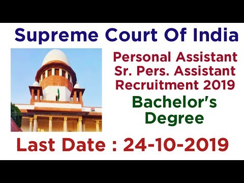 Supreme Court Personal Assistant Recruitment 2019