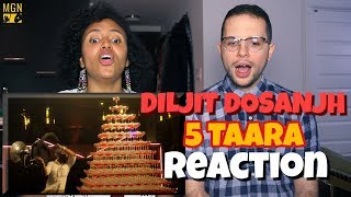 5 Taara - Diljit Dosanjh | REACTION