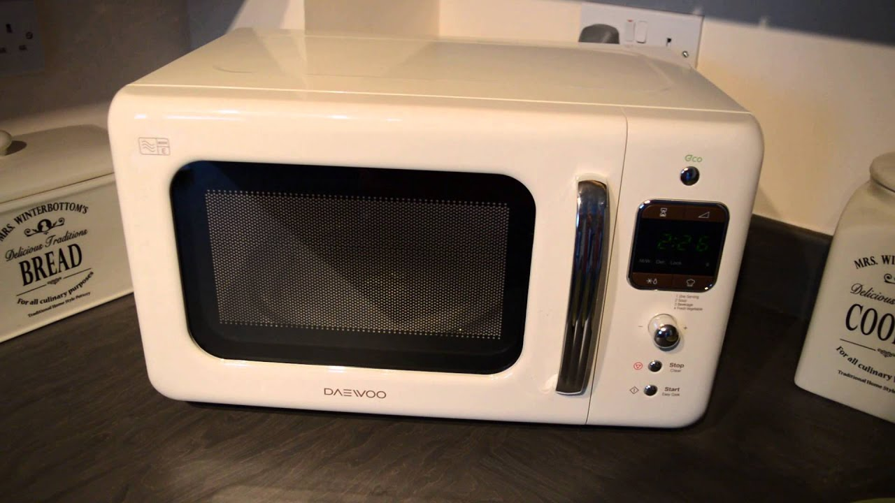 Daewoo Cream Retro Microwave