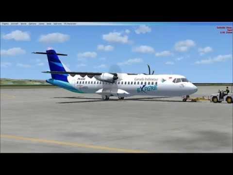 Flight Simulator ATR 72-600 Garuda Indonesia Test Turbine Sound Studios 1