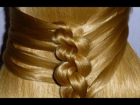 ЛЁГКАЯ  причёска для средних и длинных волос на каждый день:в школу, в институт, на работу