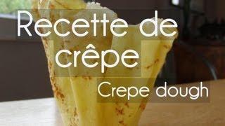 Recette De Crêpes - Crepe Dough - Recette Facile - Pâtisserie - Dessert - Albarock