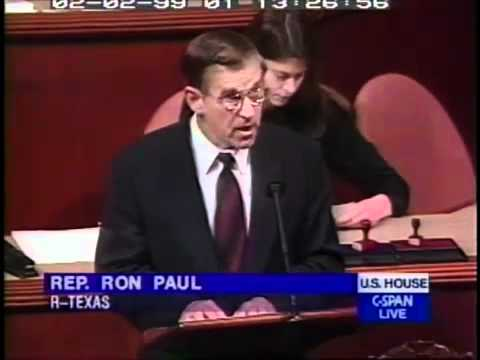 Ron Paul in 1999 - Blasts Clinton on Iraq and Wars, Predicts Terrorist Attack on American Soil