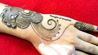 New Stylish Jewellery Mehndi Design for Hands|Thought of Creation