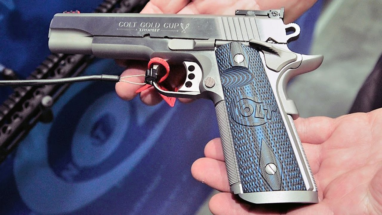 Colt Stainless Gold Cup & Competition Model handguns