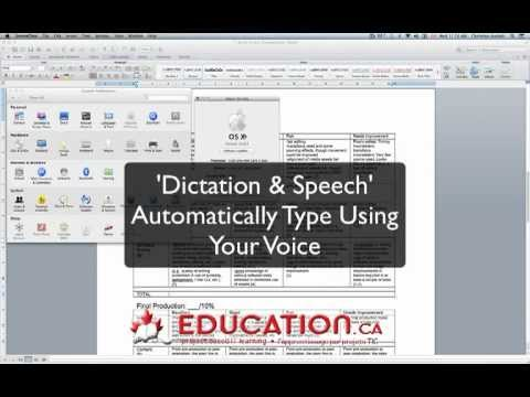 how to turn on dictation on mac