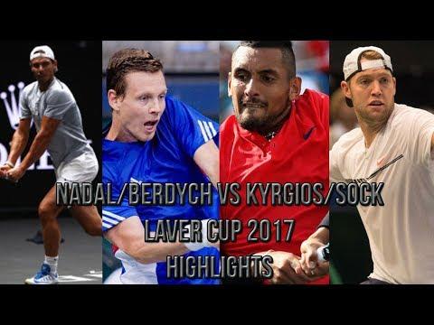 Nadal/Berdych Vs Kyrgios/Sock - Laver Cup 2017 (Highlights HD)