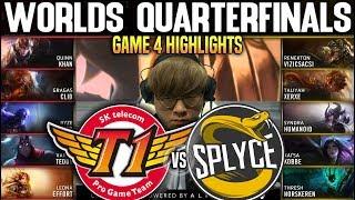 SKT vs SPY Game 4 Highlights Worlds 2019 QUARTERFINALS - SKT T1 vs SPLYCE Game 4 Highlights Worlds