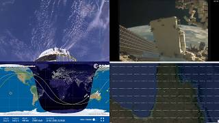 Australian Coastlines - NASA/ESA ISS LIVE Space Station With Map - 207 - 2018-10-13