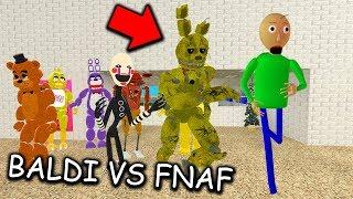 I found ALL FNAF ANIMATRONICS in BALDI'S BASICS MULTIPLAYER... (Baldi's Basics vs FNAF MULTIPLAYER)
