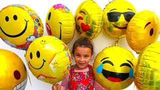 Balloon Faces Fun Surprise Eggs Challenge Kids Learn Numbers with Balloons