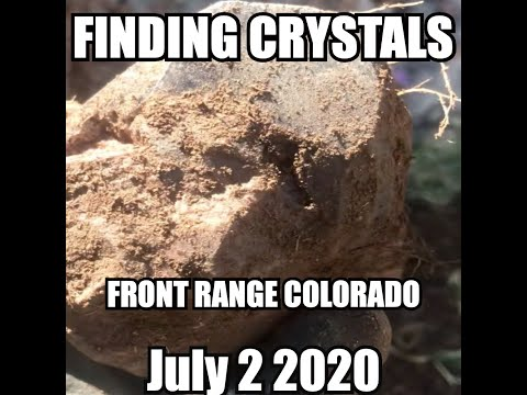 Prospecting high in the Rocky Mountains for Morion and Smoky Quartz
