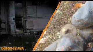 Exploring Abandoned Creepy Settlement   Metal Detecting
