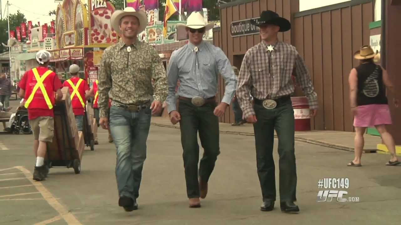 The Ufc In Calgary Western Wear Youtube