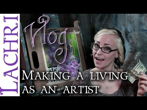 How I make a living as an artist - art tips w/ Lachri
