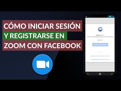 Cómo Iniciar Sesión y Registrarse en Zoom con Facebook