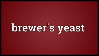 Brewer s yeast Meaning