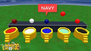 Learning Colors for Children with Color Marbal Balls on water spa toys kids aniamtion cartoons 3d