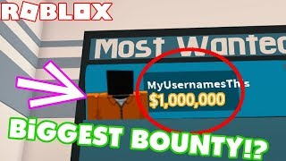 JAILBREAK BIGGEST BOUNTY (ROBLOX)