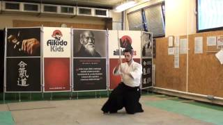 kihon tsuki happo suwatte [TUTORIAL] basic Aikido weapon technique