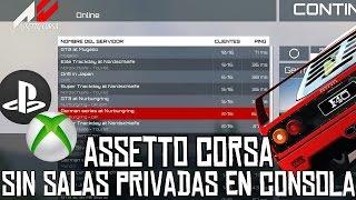 Assetto Corsa || Sobre la falta de salas privadas en consola