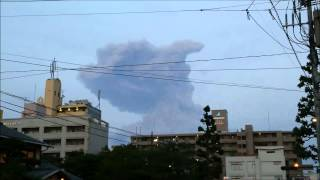 桜島の噴火の決定的瞬間を捉えました。 今年で406回の爆発です。ついに...