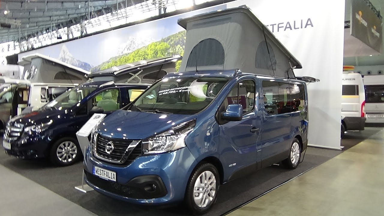 2018 westfalia michelangelo nissan nv 300 exterior and interior caravan show cmt stuttgart. Black Bedroom Furniture Sets. Home Design Ideas