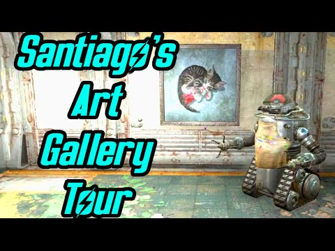Fallout 4 Far Harbor - Santiago Avida's Art Gallery - Art is Life - Funny Dialogue