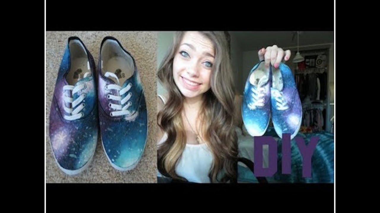 8b7f1caa153ca3 DIY  Galaxy Shoes! - YouTube