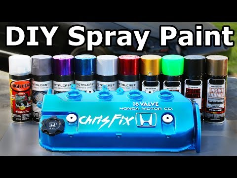 How to PROPERLY Spray Paint (Valve Covers and Engine Parts)
