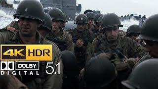 Saving Private Ryan - Omaha Beach Scene (HDR - 4K - 5.1)