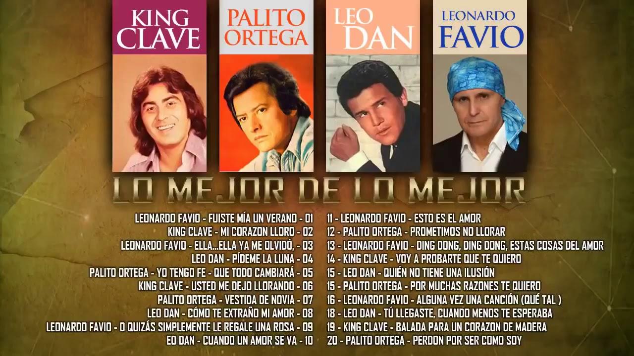 Download LEO DAN, PIERO, LEONARDO FAVIO, KING CLAVE, SANDRO EXITOS Sus Mejores Canciones | BALADAS ROMANTICAS