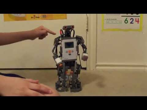 Lego Mindstorms NXT Humanoid (from sets 9797 + 9695) - YouTube