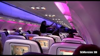[HD] Tour of Virgin America Plane and landing - LAX Check-in terminal