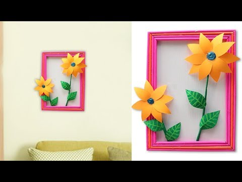 Wall Decoration Ideas !! Best Out of Waste Paper Craft Idea || DIY ROOM DECOR 2019