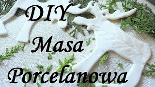 Masa Porcelanowa prosty przepis jak zrobić / zimna porcelana bez gotowania / sucha porcelana DIY
